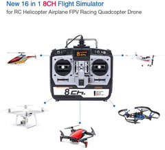 Rc Hobby Flight Simulator 8 Channels R7 G7 Phoenix 5.0 XTR Dongle Built-in, Mode 2
