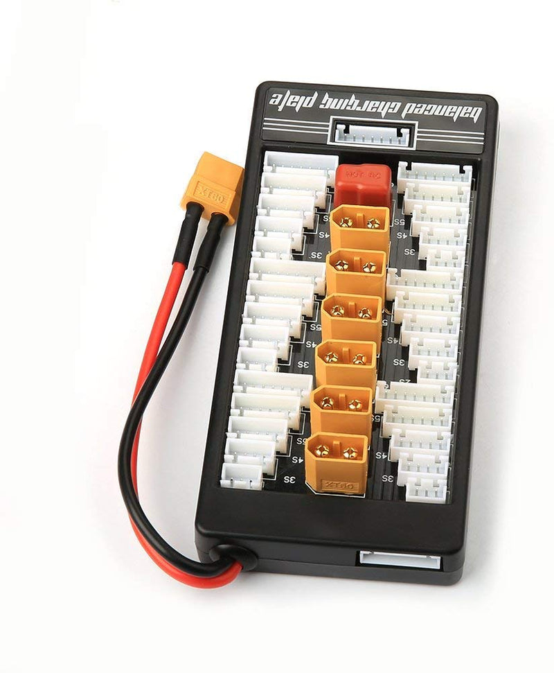Lipo Battery Parallel Charging Board Plate - For RC Hobby Battery Charger 2-6S w/ XT60 Plug