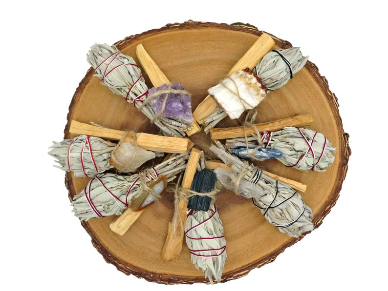 Palos Santo Sticks & Sage Geode Bundle