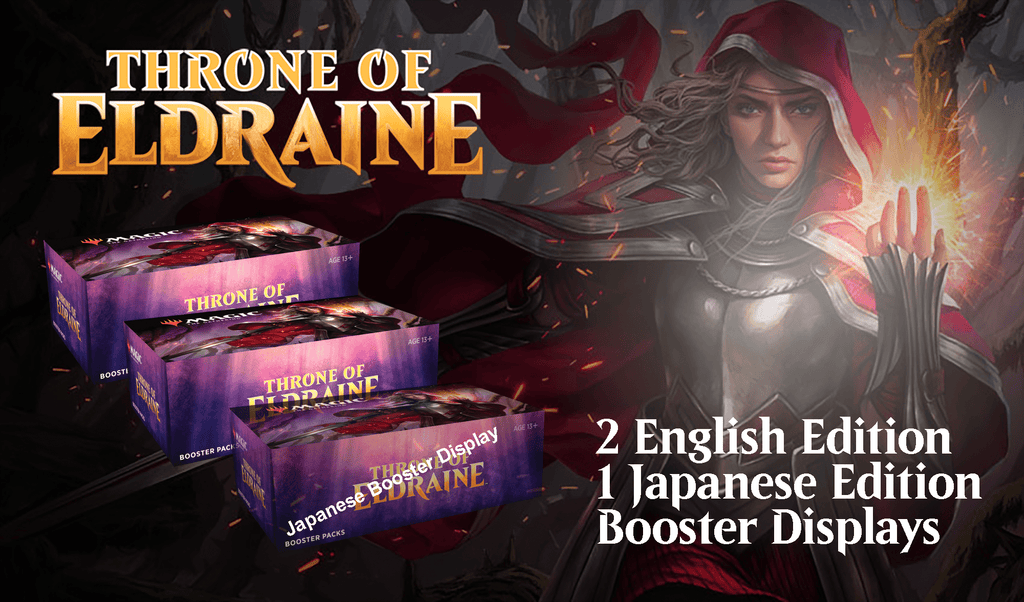 Throne of Eldraine: 2xEN & 1xJP Booster Display - WPN October 4 Release