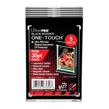 35PT Black Border UV ONE-TOUCH Magnetic Holder  (5pcs per Pack)