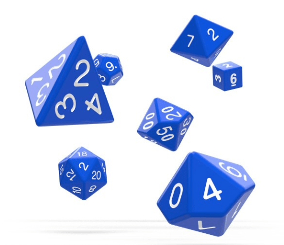 Oakie Doakie Dice RPG Set Solid (7)