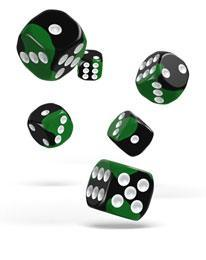 Oakie Doakie Dice D6 Glow in the Dark 16mm (12)