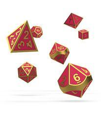 Oakie Doakie Dice RPG Set Metal Glow in the Dark  (7)