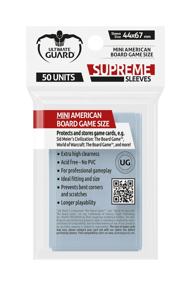 Supreme Sleeves for Board Game Cards Mini American (50)