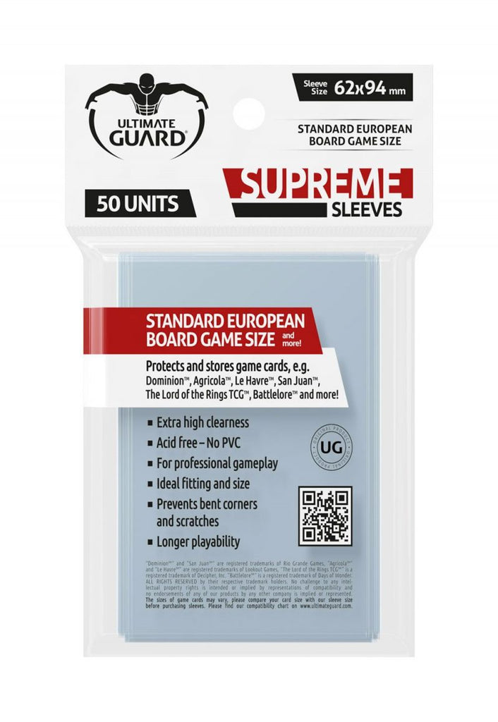 Supreme Sleeves for Board Game Cards Standard European (50)