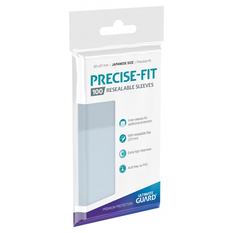 Precise-Fit Sleeves Resealable Japanese Size Transparent