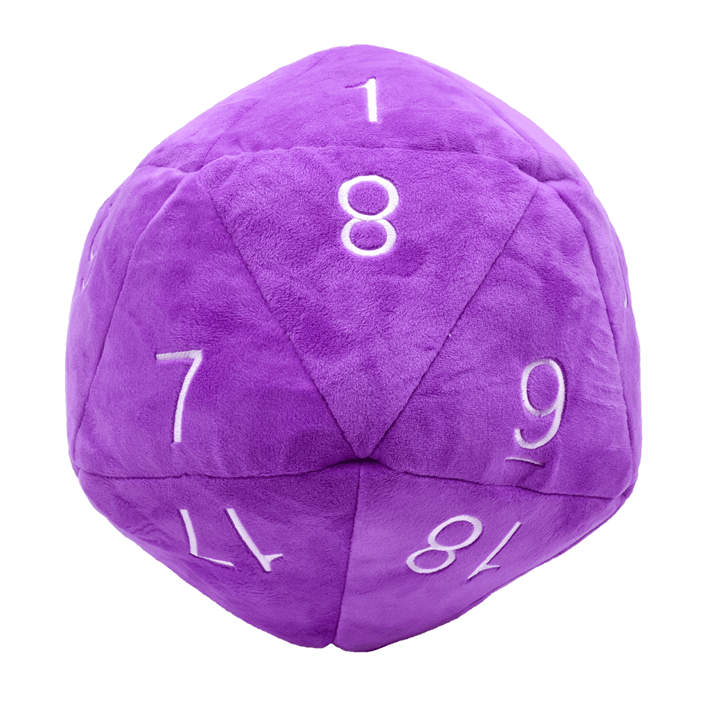 Purple Jumbo Plush D20