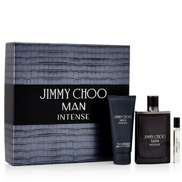 Jimmy Choo Man Intense 100ml EDT Spray / 100ml Aftershave Balm / 7.5ml EDT Spray