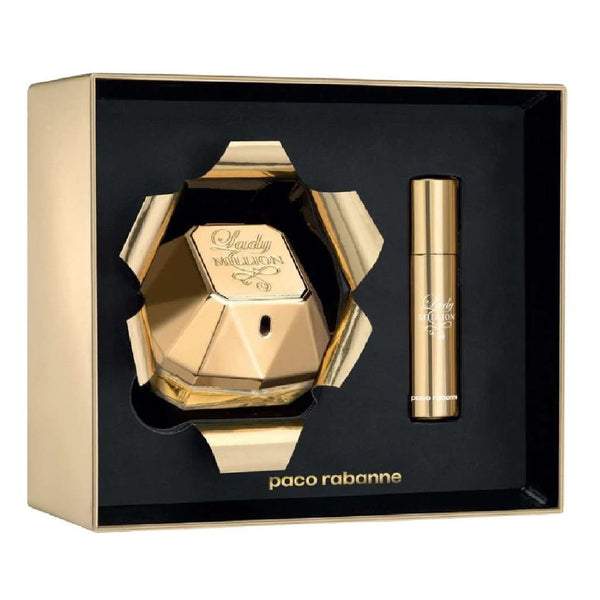 Paco Rabanne Lady Million 80ml EDP Spray / 10ml EDP Travel Spray