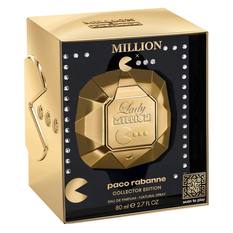 Paco Rabanne Lady Million 80ml EDP Spray Pacman Collectors Edition For Women