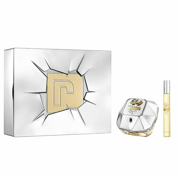 Paco Rabanne Lady Million Lucky 80ml EDP Spray / 10ml Travel Spray For Women