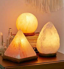 Natural Therapeutic Himalayan Salt Lamps and deoderants