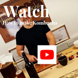 Watch how to make kombucha with happy kombucha
