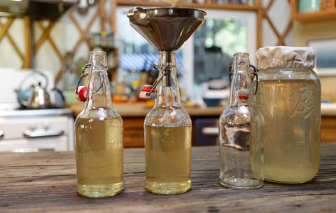 bottling water kefir