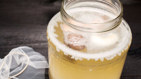 water kefir brewing