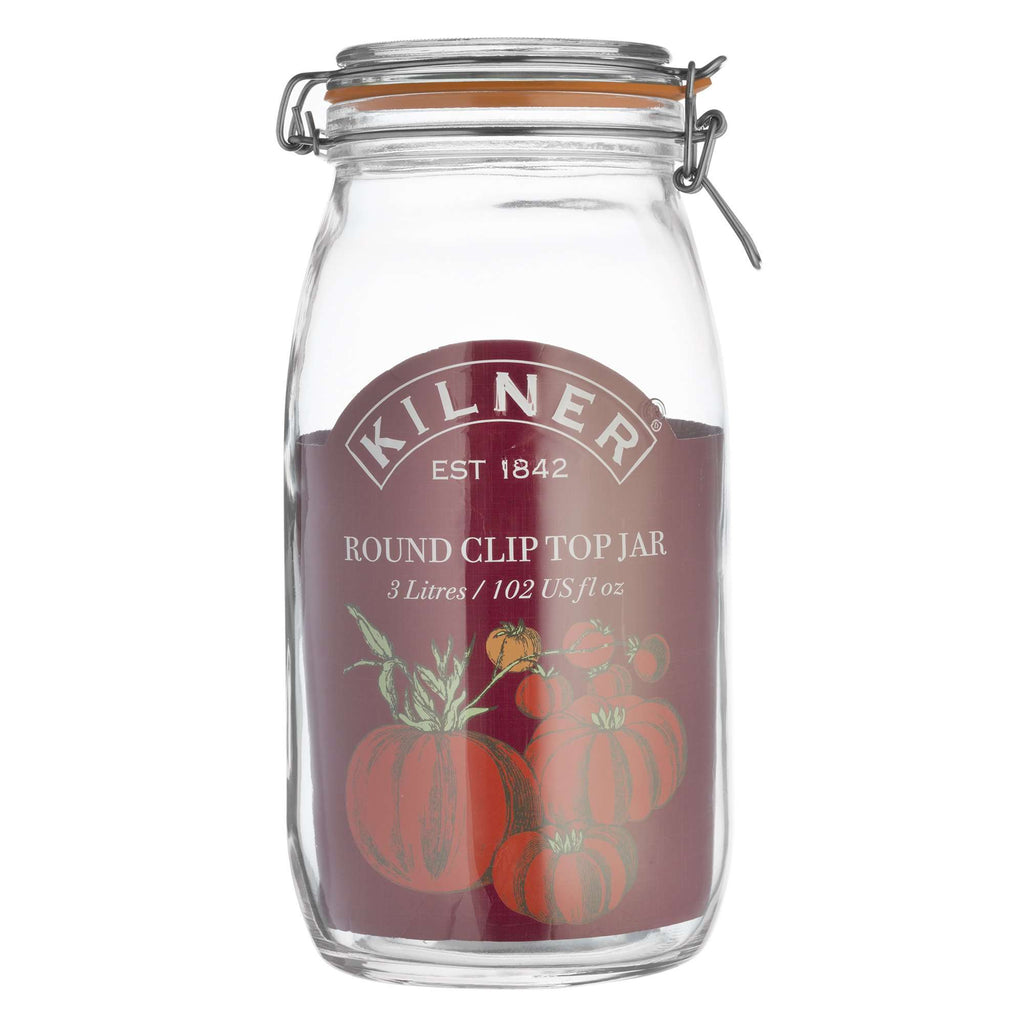 Kilner Round Clip Top Glass Storage Jar.