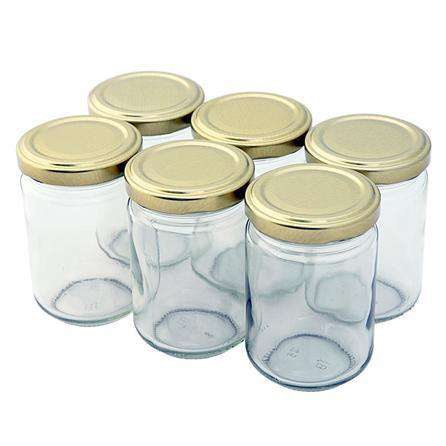 Pack of 6 Glass Screw Top Jars