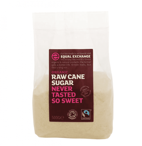 Organic and fairtrade Raw Cane Sugar 500g