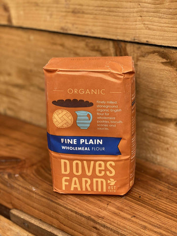 Doves Farm Organic Stoneground Fine Plain English Wholemeal Flour 1kg