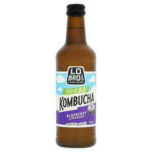 Lo Bros CBD, Organic Kombucha Blueberry Lemonade 330ml