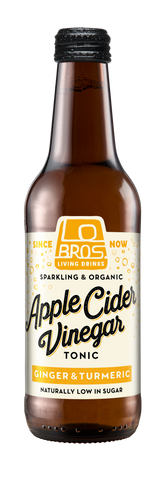 Lo Bros Organic Apple Cider Vinegar - Ginger & Turmeric (330ml)