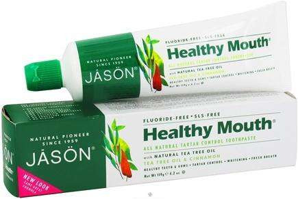 JASON - Toothpaste Healthy Mouth Tea Tree Oil Fluoride-Free - 4 oz.