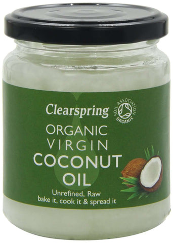 Clear spring coconut oil 200g front