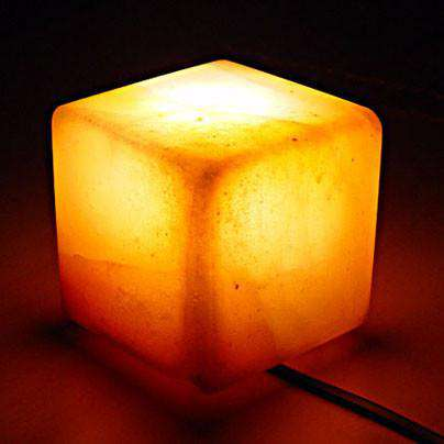 Village Originals Salt Lamps : Natural Crystal Salt Lamp Pyramid shape ? Happy Kombucha