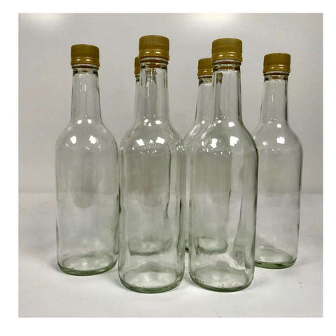 Glass 750 ML Screw Lid fermenting Bottles