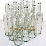 Glass 500ML Screw lid fermenting bottles (clear)