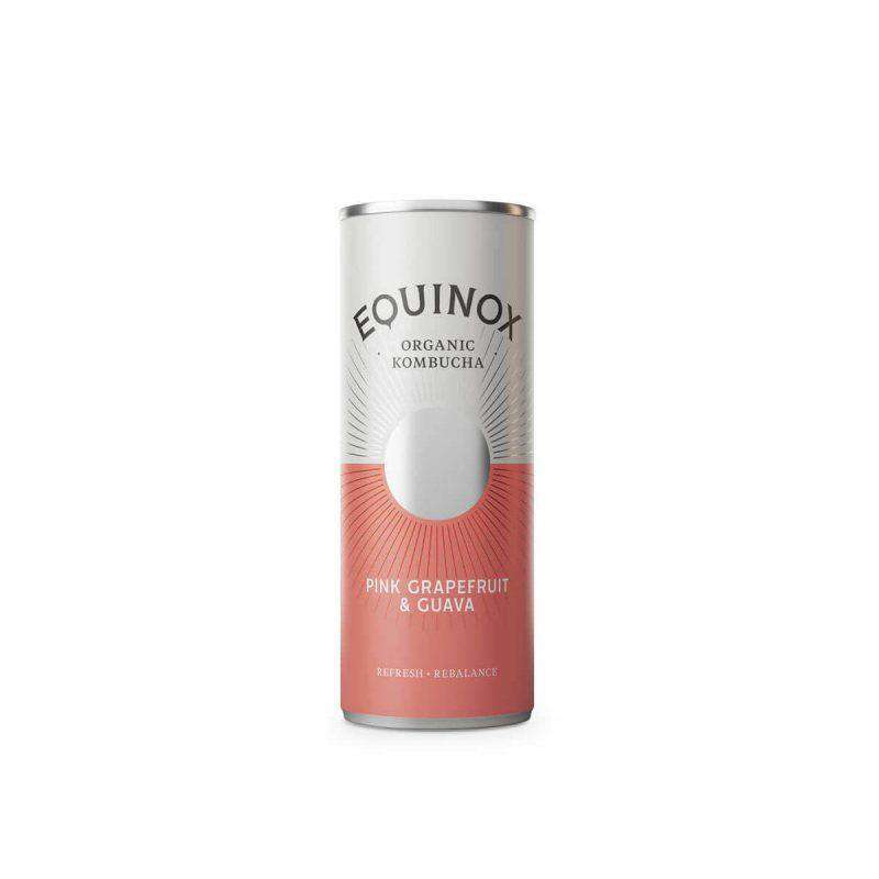 Equinox Kombucha Pink Grapefruit & Guava (250ml) Can