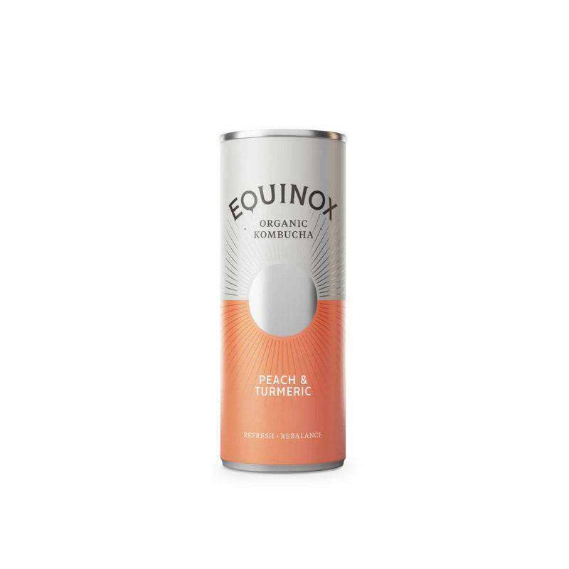 Equinox Kombucha Peach & Turmeric (250ml) Can