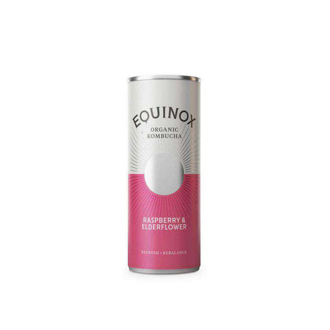 Equinox Kombucha Raspberry & Elderflower (250ml) Can