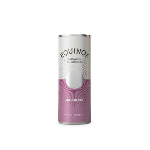 Equinox Kombucha Wild Berry (250ml) Can