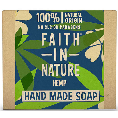 Faith In Nature Pure Vegetable Soap Green tea and Hemp. 100g Bar