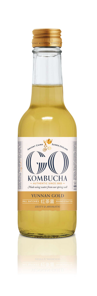 GO! Golden Yunnan tea kombucha 250ml