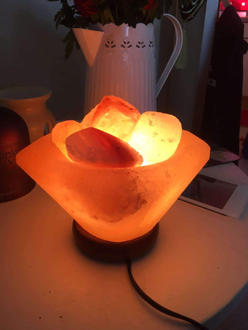 Square shaped Fire Basket salt lamp