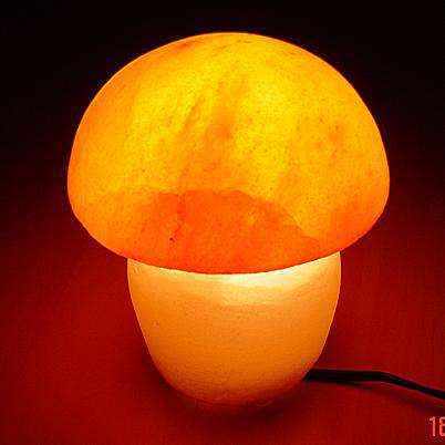Mushroom shaped salt lamp