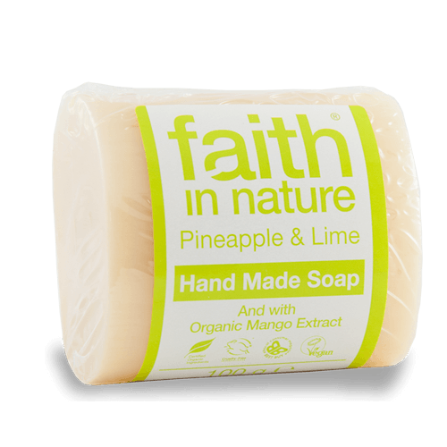 Faith In Nature Pineapple and lime handmade soap 100g