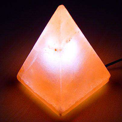 Natural Crystal Salt Lamp Pyramid shape