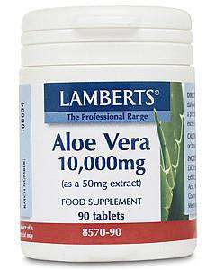 Aloe Vera 10,000mg Taste free, high potency tablets.