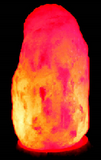 Colour changing USB Natural shaped-Himalayan salt lamp orange