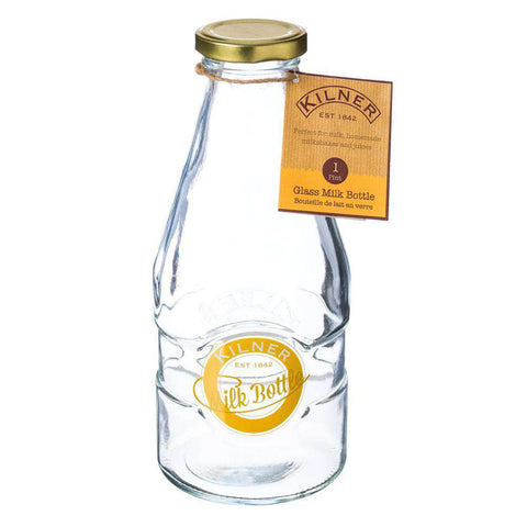 Glass Milk Bottle by Kilner 1 Pint 568ml