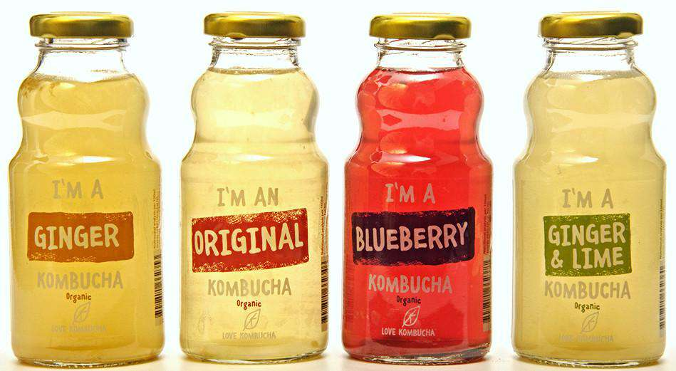 Mixed Flavours pack of Kombucha baby bottles 250 ml