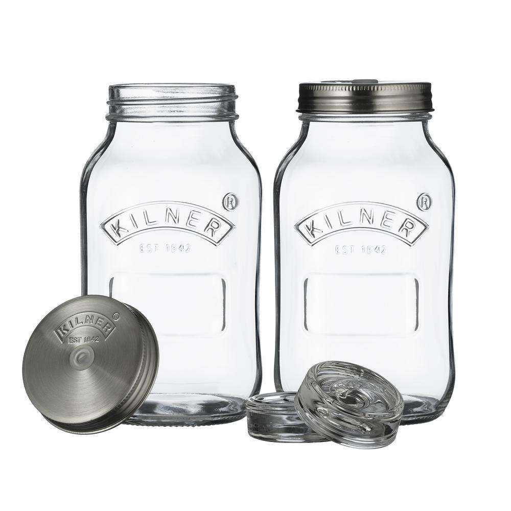 Set Of 2 Fermentation Jars 1 Litre