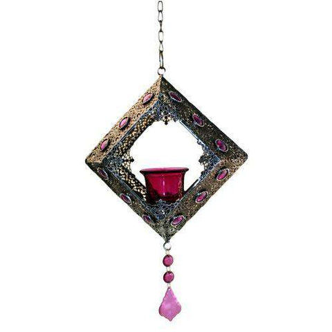 Moorish Single Hanging Square Candle Holder