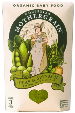 Organic Peas Spinach Mint & Quinoa Baby Food 10M+