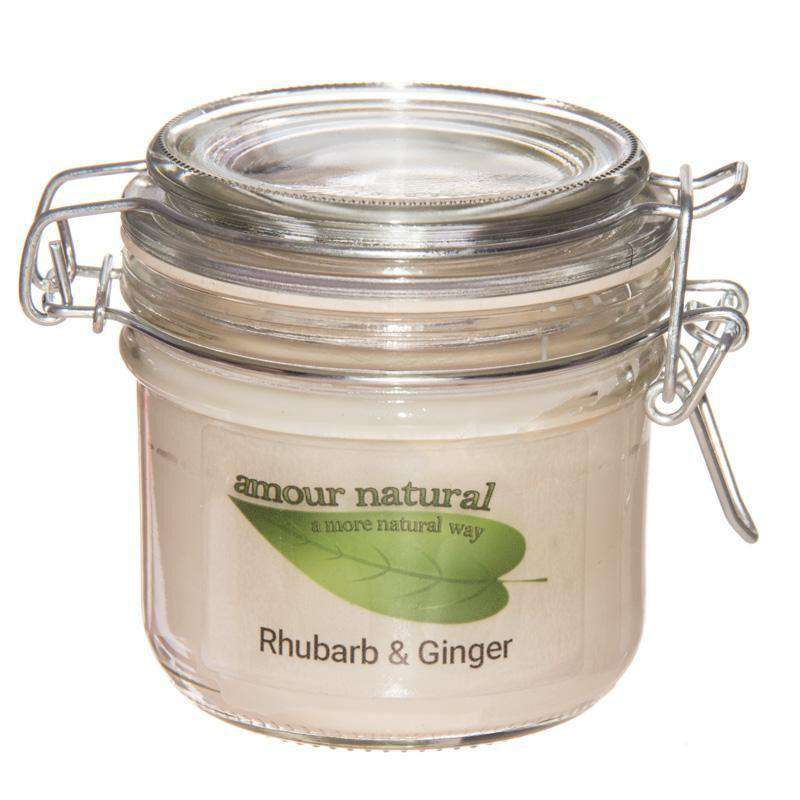 Rhubarb and Ginger Candle, 200ml Clip Jar