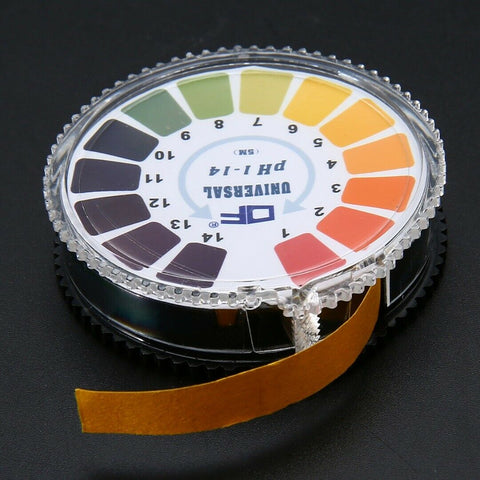 pH Indicator Strip, roll of testing paper.